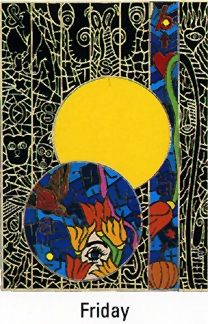 """Alex Echo Limited Edition Serigraph on Paper: """" Seven Moons Suite: Friday """""""