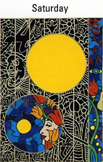 """Alex Echo Limited Edition Serigraph on Paper: """" Seven Moons Suite: Saturday """""""