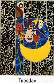 """Alex Echo Limited Edition Serigraph on Paper: """" Seven Moons Suite: Tuesday """""""
