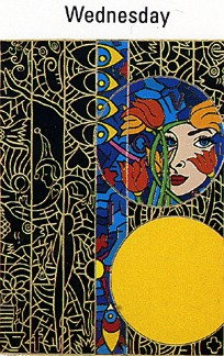"""Alex Echo Limited Edition Serigraph on Paper: """" Seven Moons Suite: Wednesday """""""