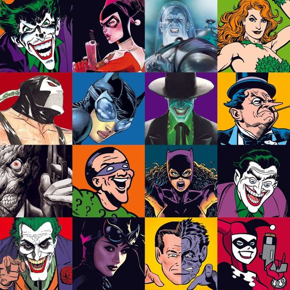 """Alex Ross Countersigned DC Comic's Canvas Giclee:""""The Faces of Evil"""""""