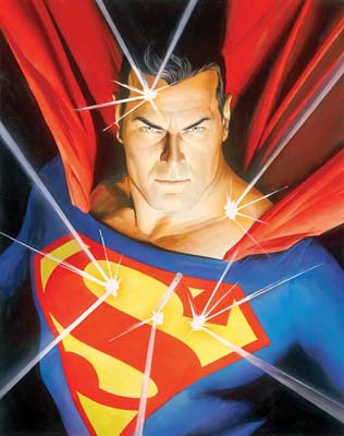 """Alex Ross Hand Signed and Numbered Limited Edition Giclee on Paper:""""Mythology: Superman"""""""