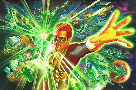 """Alex Ross Hand Signed and Numbered Limited Edition Giclee on Paper and Canvas:""""The Green Lantern - The Power of the Ring """""""