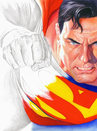 """Alex Ross Handsigned and Numbered Limited Edition Giclee:""""Rough Justice - Superman"""""""