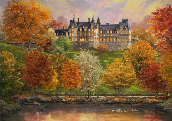 "Thomas Kinkade Studios ® Biltmore 125th Anniversary Limited Edition:""Biltmore in the Fall"""