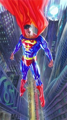 "Alex Ross Oversized International Limited Edition Canvas Giclee:""Superman Man of Tomorrow"""