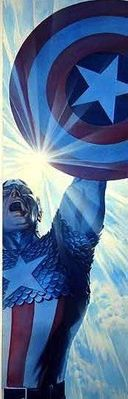 "Alex Ross Signed Limited Edition Giclee on Deckled Edged Paper:""Captain America: Triumphant"""