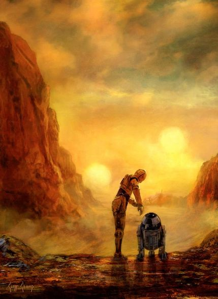 "Cliff Cramp Star Wars Limited Edition Giclee Print:""Helping Hand"""