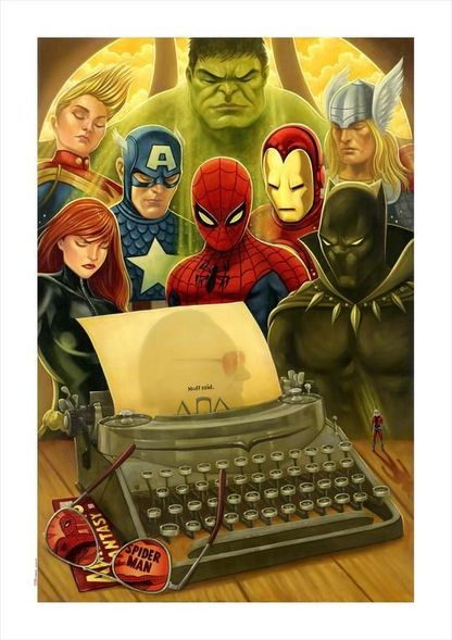 """Tim Rogerson Limited Edition Stan Lee Tribute Canvas Giclee:""""Nuff Said"""""""