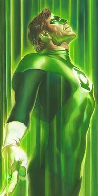 """Alex Ross Signed Artist Proof Limited Edition Canvas Giclee:""""Shadows: Green Lantern"""""""