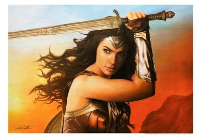 "Rob Surette Limited Edition Canvas Giclee:""Wonder Woman - Gal Gadot"""