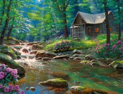 "Mark Keathley Artist Hand Signed Limited Edition Embellished Canvas Giclee:""I'd Rather Be Fishing"""