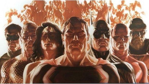 """Alex Ross Gallery Exclusive Limited Edition Canvas Giclee:""""Alliance"""""""