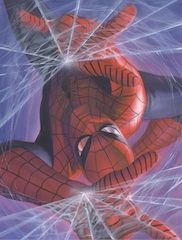 """Alex Ross Limited Edition Fine Art Giclee Print on Canvas:""""Marvelocity: Spider-Man"""""""