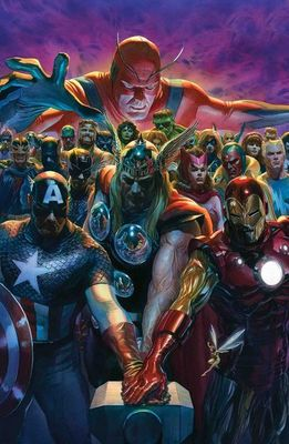"Alex Ross Limited Edition Fine Art Giclee Print on Paper:""Avengers 700"""