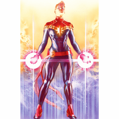"""Alex Ross Limited Edition Fine Art Lithograph on Paper:""""Mighty Captain Marvel"""""""
