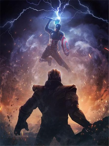 """Marvel Studios Limited Edition PhaseRunner Canvas Giclee:""""Worthy"""""""