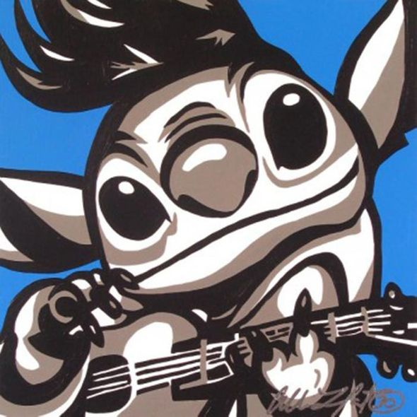 """Allison Lefcort Hand Signed and Numbered Limted edition Giclee on Canvas: """"Elvis Stitch"""""""