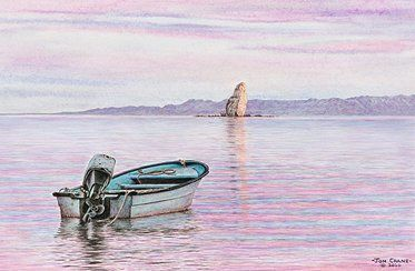 """Jon Crane Hand Signed Artist Proof Limited Edition Giclee on Paper:""""Pastel Paradise"""""""