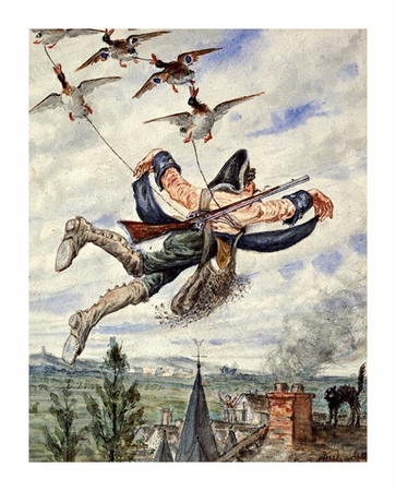 "Alphonse Adolf Bichard Fine Art Open Edition Giclée:""Illustrations for the Adventures of Baron Munchausen"""