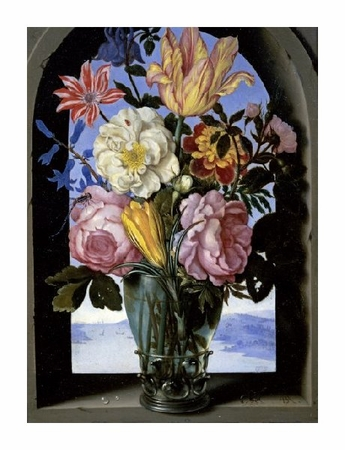 "Ambrosius Bosschaert Fine Art Open Edition Giclée:""Bouquet of Flowers in an Arch"""