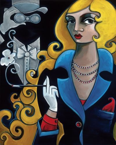 "Amy Lynn Handsigned and Numbered Limited Edition Gallery Wrapped Giclee on Canvas:""Haunted In Vienna"""