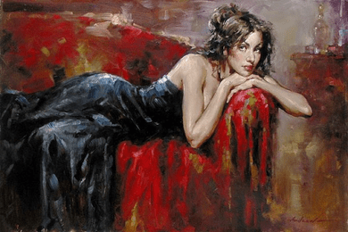 "Andrew (Andrew Atroshenko) Handsigned and Numbered Giclee on Pallet KnifeTextured Canvas Giclee:""Beyond"""