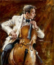 """Andrew (Andrew Atroshenko) Handsigned and Numbered Limited Edition Giclee on Canvas:""""Bassline"""""""
