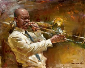 "Andrew (Andrew Atroshenko) Handsigned and Numbered Limited Edition Giclee on Canvas:""Solid Brass"""
