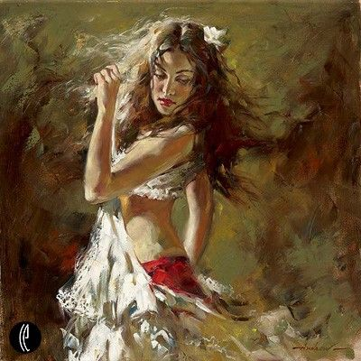 """Andrew Atroshenko Limited Edition Embelleshed Giclee on Canvas :""""Into the Light"""""""