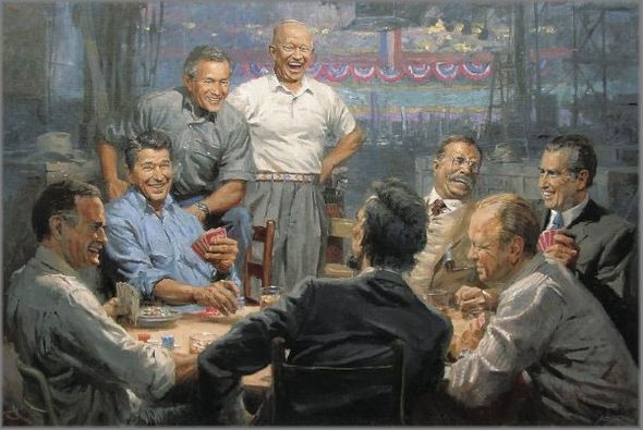 """Andy Thomas  10th Anniversary Limited Edition Giclee:""""Grand Ol' Gang"""""""