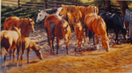 """Ann Hanson Handsigned and Numbered Limited Edition: """"Bathing Beauties"""""""