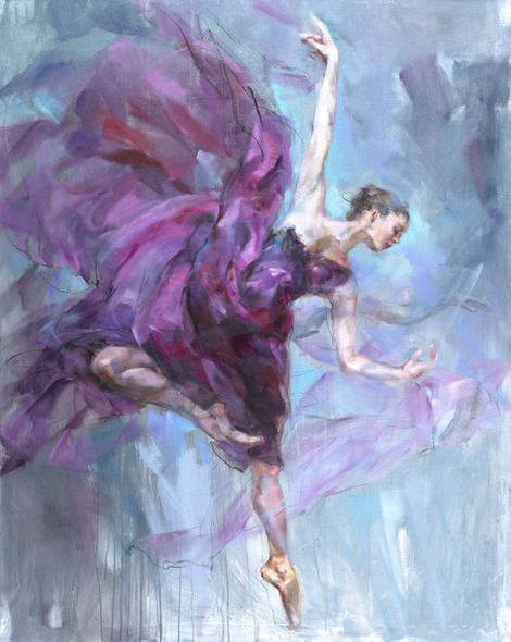 "Anna Razumovskaya Hand Signed and Numbered Limited Edition Embellished Canvas Giclee:""Alluring"""