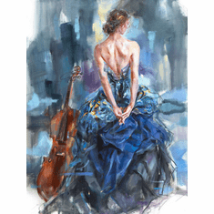 """Anna Razumovskaya Hand Signed and Numbered Limited Editiion Embellsihed Canvas Giclee:""""Connection 2"""""""