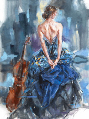 "Anna Razumovskaya Hand Signed and Numbered Limited Edition Embellished Canvas Giclee:""Connection 2"""