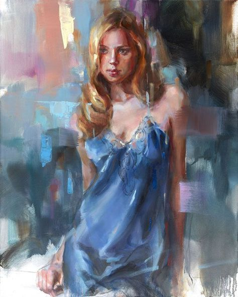"""Anna Razumovskaya Hand Signed and Numbered Limited Edition Artist Embellished Canvas Giclee:""""Mysterious"""""""