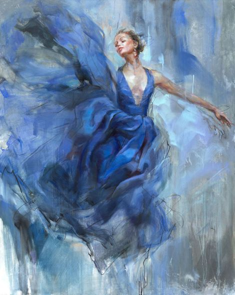 "Anna Razumovskaya Hand Signed and Numbered Limited Edition Embellished Canvas Giclee:""Above"""