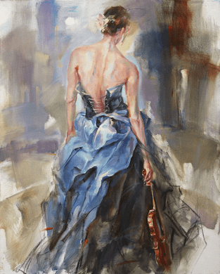 """Anna Razumovskaya Hand Signed and Numbered Limited Edition Embellished Canvas Giclee:""""Nuance 4 """""""