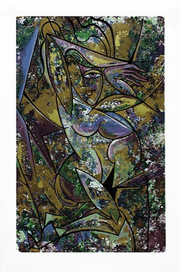 """Anthony Armstrong Limited Edition Signed Serigraph Ed. 350:""""Nude with Drapery II"""""""