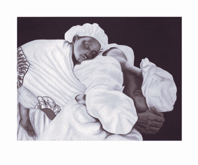 """Anthony Jordan Limited Edition Pencil Signed Giclee Ed. 100:""""Mother and Child"""""""