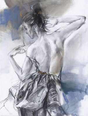 """Anna Razumovskaya Hand Signed and Numbered Limited Edition Embellished Canvas Giclee:""""Evening of the Day"""""""