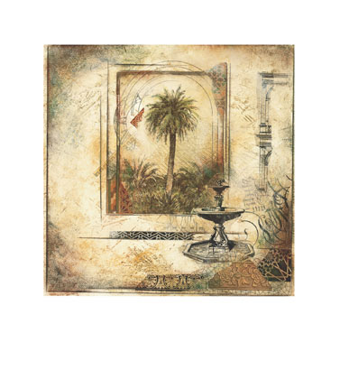 """Arnold Iger Signed and Numbered Limited Edition Giclée on Somerset Velvet Paper:""""Palm Garden II"""" (Sold Out)"""