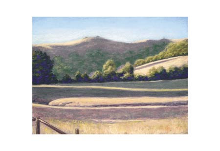 "Barbara Lawrence Signed and Numbered Limited Edition Giclée on Somerset Velvet Paper:""Flander's Ranch II"""