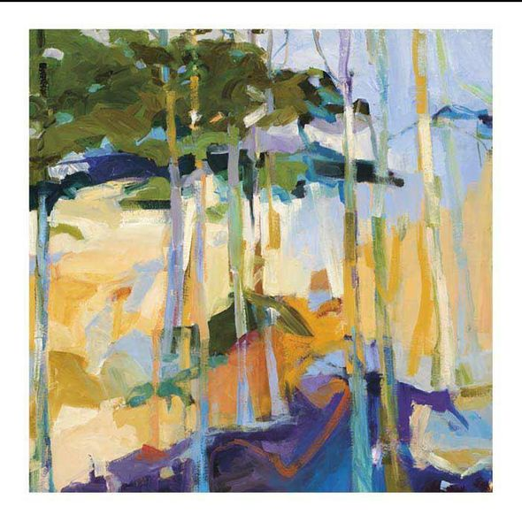 "Barbara Rainforth Limited Canvas Giclee : ""Abstract Landscape II"""