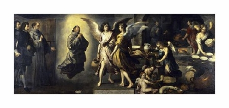 "Bartolome Esteban Murillo Fine Art Open Edition Giclée:""La Cuisine Des Anges"""
