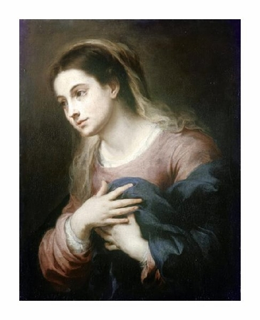 "Bartolome Esteban Murillo Fine Art Open Edition Giclée:""Virgin of the Annunciation"""