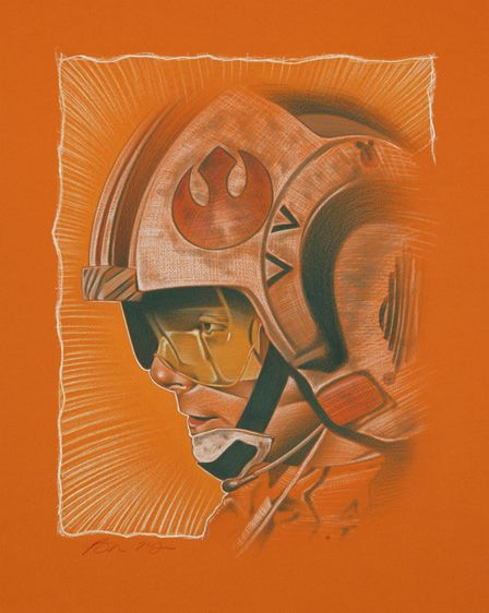 """Ben Curtis Jones Limited Edition Star Wars Giclee on Paper:""""Like Beggar's Canyon"""""""