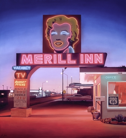 """Ben Steele Hand Signed and Numbered Limited Edition Giclee On Paper and Canvas:""""Merill Inn"""""""
