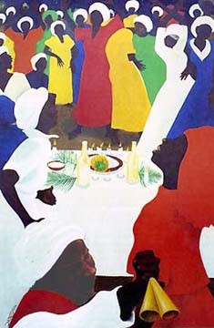 "Bernard Hoyes Limited Edition Signed Ed. 999:""At the Table of Zion"""