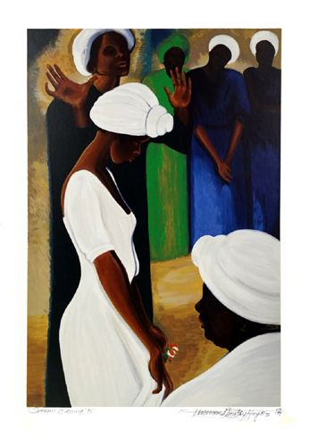 "Bernard Hoyes Signed Limited Edition Fine Art Serigraph Print on Paper:""Sharon's Blessing"""